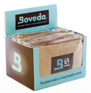 2-Wege-Befeuchtungspäckchen von Bóveda, für 69% Luftfeuchtigkeit, groß 60 gramm Größe, Menge von 12